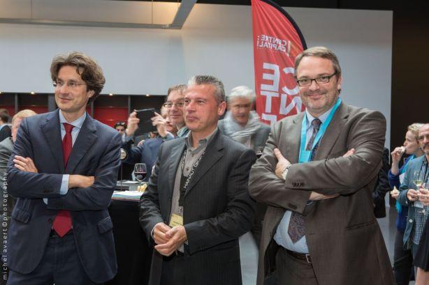 De gauche à droite; Geoffroy Dumonceau, Danny Roosens et Damien de Dorlodot