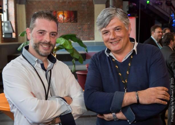 A gauche, Christophe Gérard et à droite, Michel Bricourt
